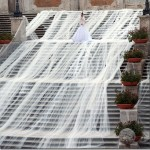 The world's longest wedding gown