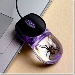 Cool computer mouse in which a real spider is embedded