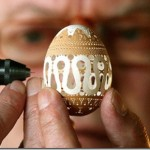 Exquisite eggshell art
