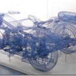 Three-dimensional steel wire sculptures