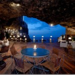 Romantic cave restaurant with wonderful views of the Adriatic Sea