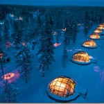 Romantic glass igloos
