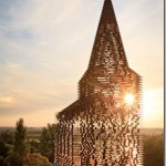 Amazing see-through building looks like a church with transparent walls