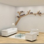 Simple but elegant – tree branch inspired bookshelf