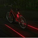 Laser projection bicycle lane