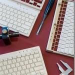 Handcrafted wireless wooden keyboards