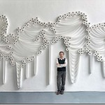 Unique artworks made from toilet paper