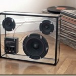 Transparent speaker with cool design