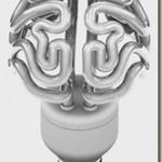 Cool light bulb looks like a human brain