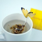Beautiful butterfly tea bag