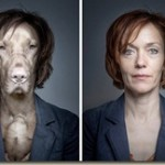When the faces of dogs onto the bodies of their owners