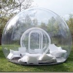 Transparent camping tent for a beautiful night