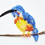 Beautiful works of art of birds created out of flowers