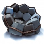 Amazing armchair with perfect geometry effect