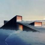 Cabin designed as a ski slope in Norway