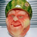 Amazing three-dimensional watermelon carvings