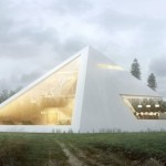 Modern architecture design looks like an Egyptian pyramid