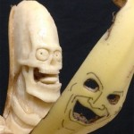 Creative three-dimensional banana sculptures