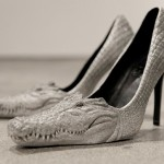 Amazing high heel shoes inspired by crocodiles