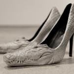 Amazing high heel shoes inspired by crocodiles