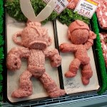 Raw meat sculptures