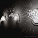 3D animal lace wall sculptures