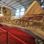 The world's longest wooden sculpture