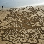 Amazing sand drawings inspired by the crop circles phenomenon