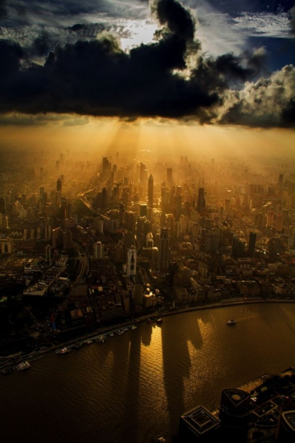 amazing-stunning-beautiful-aerial-photos-Shanghai-skyline