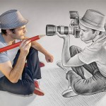Creative 3D pencil drawings by Ben Heine