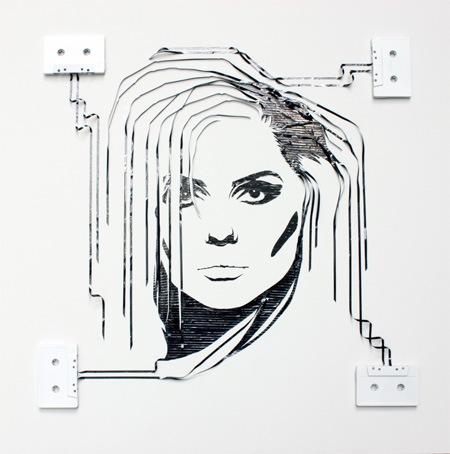 cool-awesome-work-of-art-recycled-tapes-people-face-portraits (11)