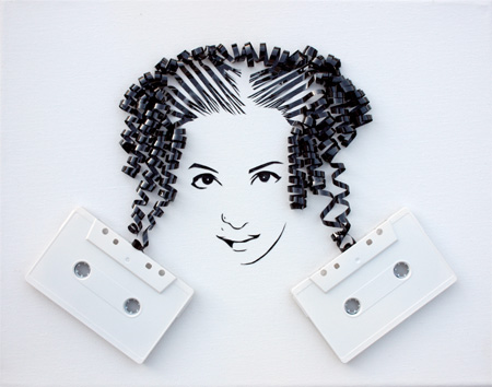 cool-awesome-work-of-art-recycled-tapes-people-face-portraits (12)