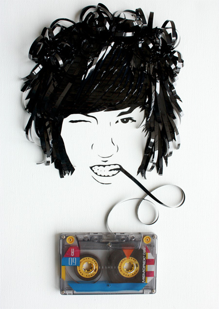 cool-awesome-work-of-art-recycled-tapes-people-face-portraits (13)