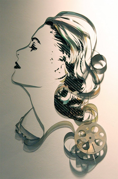 cool-awesome-work-of-art-recycled-tapes-people-face-portraits (3)