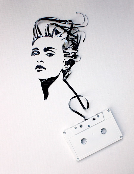 cool-awesome-work-of-art-recycled-tapes-people-face-portraits (6)