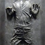 Han Solo in Carbonite decal sticker for Star Wars fan