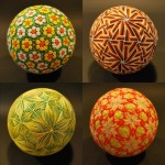 Traditional embroidered Temari balls