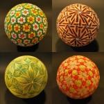 Traditional embroidered Temari balls