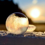 Stunning photos of frozen soap bubbles at minus 9 degrees centigrade