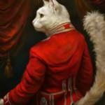 Royal cats portraits inspired by classic oil paintings