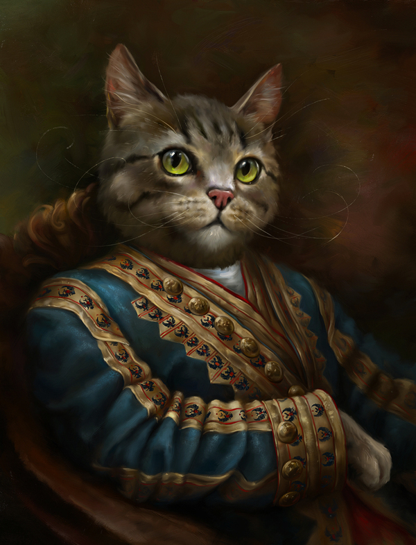 creative-funny-interesting-royal-cats-portraits-pictures