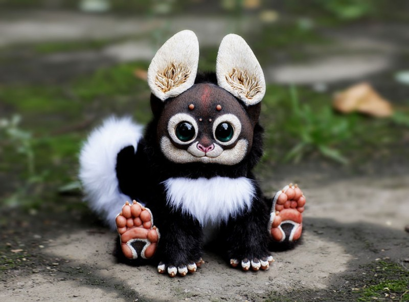 cute-fantasy-creepy-animal-anime-creatures-dolls-sculptures (2)