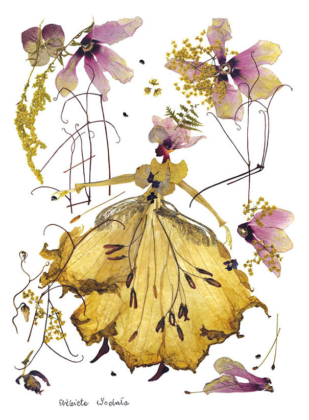 Beautiful flower Paintings Created Out Of Plant Parts