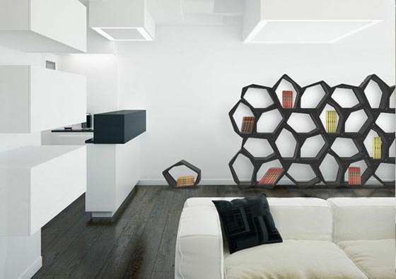 Attractive Design Your Own Composition Modular And Multifunctional Shelving