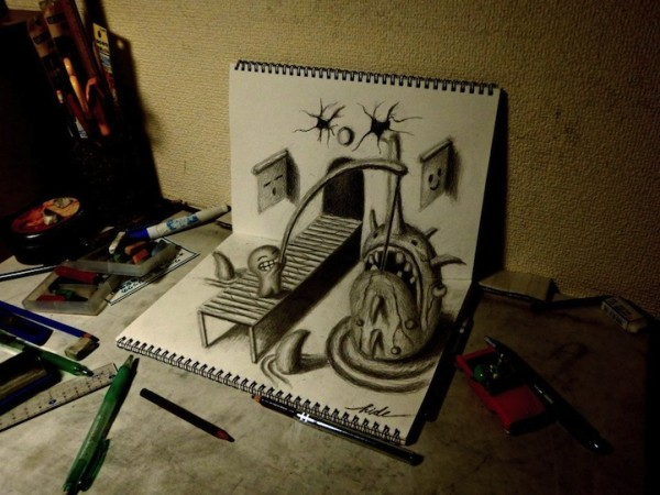 incredible-cool-amazing-3D-Anamorphic-Illustrations-pencil-drawings (1)