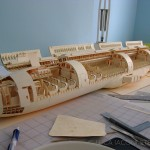 1:60 scale Boeing 777 by paper plane-making wunderkind with paper manilla folders