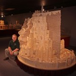 The biggest matchstick sculpture – The Minas Tirith model created out of 420,000 Matchsticks