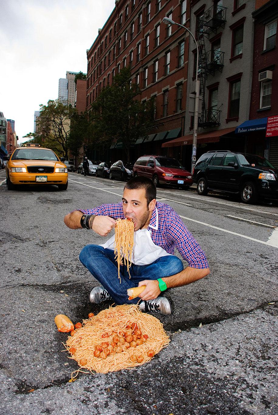 Ingenious And Surreal Photograph Series Against City Potholes Vuing Com