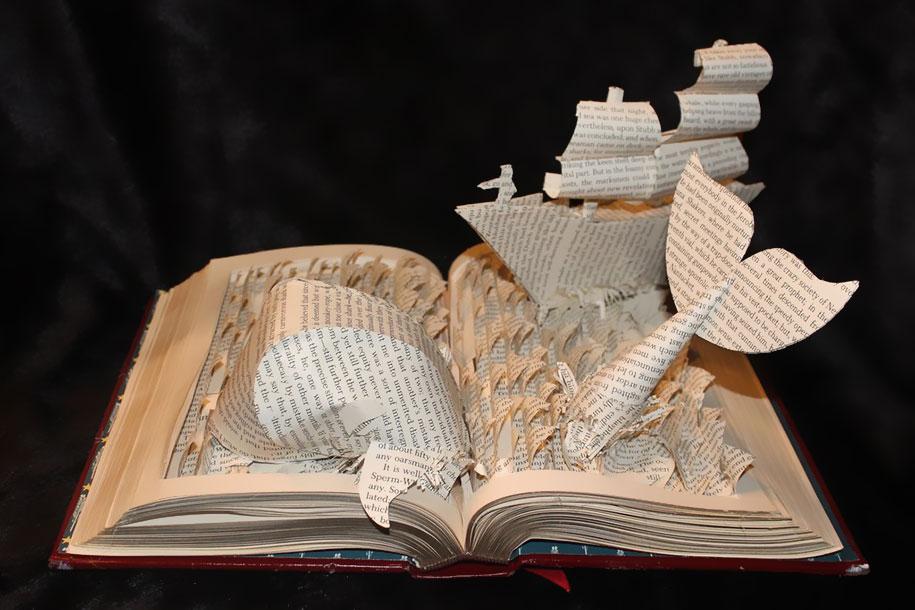 paper sculptures books creative artwork worlds imaginative depicting wondrous sculpture artist arts 3d literature vuing creating making amazing