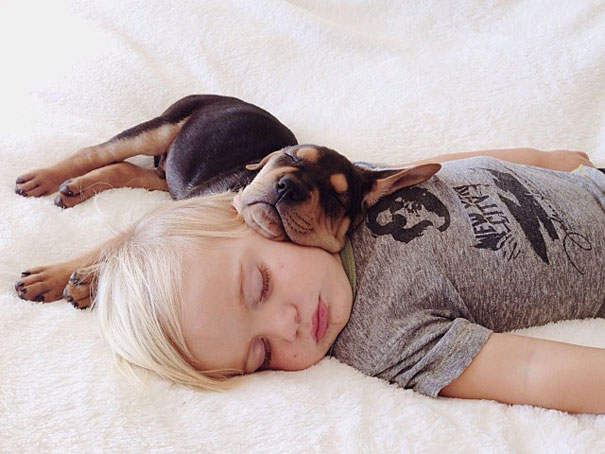 lovely-funny-cute-pictures-toddler-sleeping-with-puppy-dog (3)